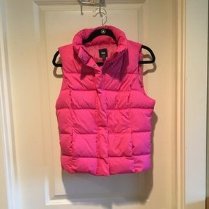 Gap Hot Pink Puffer Vest
